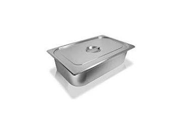 Waschbecken, Edelstahlwanne, Lösemittelbecken mit Deckel 28L, Maße: 530 x 325x200mm /Stainless steel tub with lid 28L, dimensions: 530 x 325x200mm