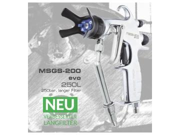 MSGS-200 250L mit langem Filter (250 bar)*, MULTI SPRAY PISTOLE
