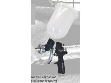 IWATA AIR GUNSA impact junior AZ4 HTE-S spray gun 600ml, Gravity cup gun