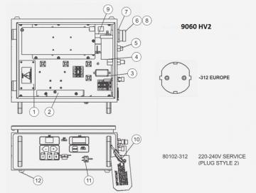 Filter unit AC for 9060 HV2