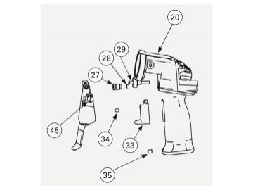 Schraube für Handhebel für Vector R90/R70