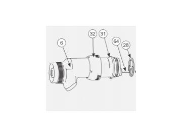 Gun body with needle, retaining ring and resistance tube for AA90 Classic