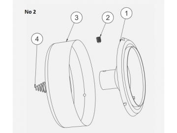 PLASTIC SCREW for No 2 - bell