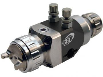 Devilbiss AG-361 Automatikpistole mit Mikrometer und Verschlussstopfen für Druckluft
