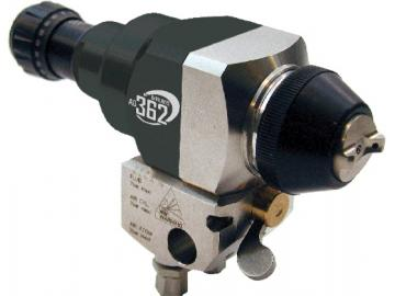 Devilbiss AG-362 automatic gun with screw manifold - recirculation, micrometer and remove controlled for compressed air