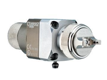 COBRA 2 Umlauf - Automatikpistole mit Verbindungsplatte, ohne Luftströmungsventile (mit Steckern ausgestattet) und ohne Nadeleinstellung