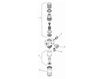 Obere Abdeckung einschließlich Membran für DVFR3