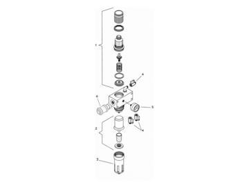 Filtergehäuse mit Ablassventil