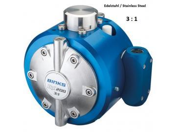DX200 3: 1 diaphragm pump - stainless steel, with Manual Fluid Regulator