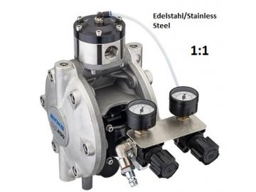 DX200 diaphragm pump - stainless steel, with material regulator