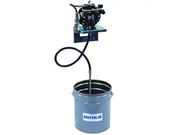 DX70 Diaphragm Pump with material regulator and 3 air regulators