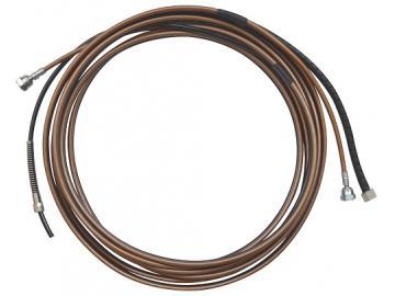 SuperFlex-Doppelschlauchpaket mit 1/8 Luft- und Materialschlauch und 1/4NPS Anschluss (270bar)