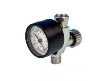 Air regulation valve with manometer for Devilbiss spray gun