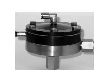 Inline Materialdruckregler mit Pneumatischer Regelung, ohne Manometer