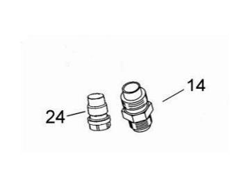Blind plug 1/4 for JGA - pressure fed spray gun