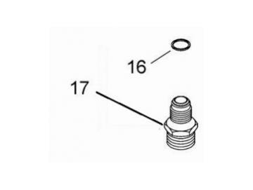 Material nipple 3/8 BSP / NPS for JGA - pressure fed spray gun