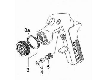 Distribution ring for JGA - pressure fed spray gun