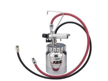 Pressure vessel/remote pressure cup 2L, aluminium, complete with air and liquid hoses