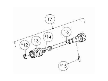Schwarzes Streuventil Kit für PRO Light E