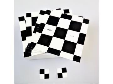 Lenata Aufspritzkarten M12, (Kontrastaufkleber, Schwarz-Weiß Aufkleber)