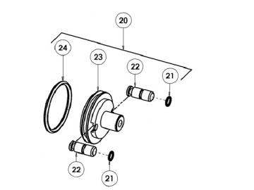 O-RING (2 pieces) for AG363/AG364