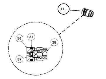 Dichtung (4 Stück) für AG363/AG364-Nadelpackung