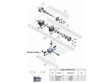 Dynamisches Dichtungskit für Binks AA4400A
