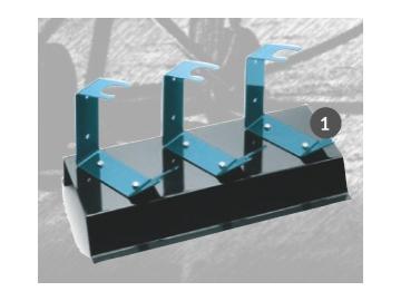 Lackierpistolenhalter für 3 Pistolen mit Standfuß