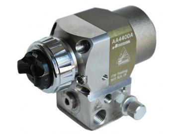 Binks AA4400A Automatikpistole mit  Grundplatte/keine Rückführung und AA10 HVLP Luftkappe