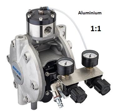DX200 Membranpumpe - Aluminium, mit Manuellem Materialregler
