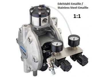 DX200 diaphragm pump - stainless steel-emaille, with Surge Chamber