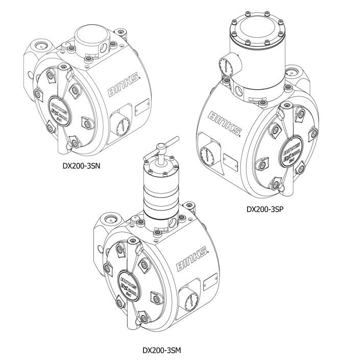 DX200 3:1 Membranpumpe - Edelstahl, mit Aktivem Pulsationsdämpfer