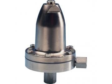 Inline Materialdruckregler mit Manueller Regelung, ohne Manometer