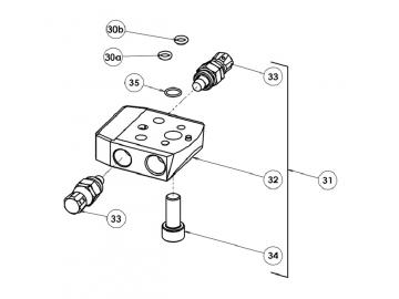 RECIRC PLUGGED SCREW MANIFOLD for AG363