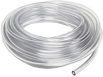 Fluid hose/tube (low pressure), transparent with 1x 1/4 and 1x 3/8 connection