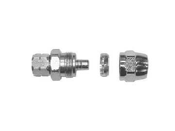 Hose/Tube connections, reusable, 3 parts