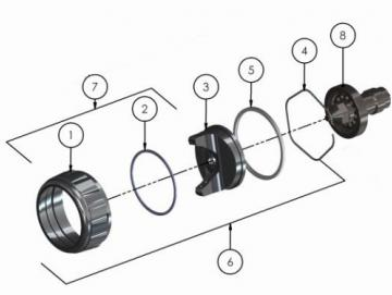 Retaining ring & seals for Advance HD