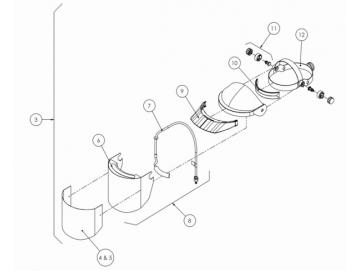 HEAD PIECE & BREATHING TUBE KIT for PROV-600, PROV-650 Mask