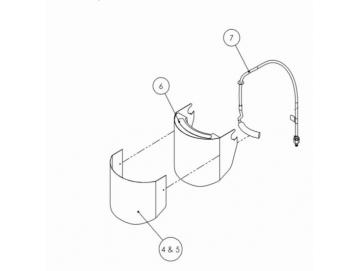 BREATHING AIR PIPE KIT for PROV-650 Mask