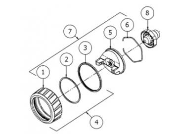RETAINING RING SUB ASSEMBLY for DV1