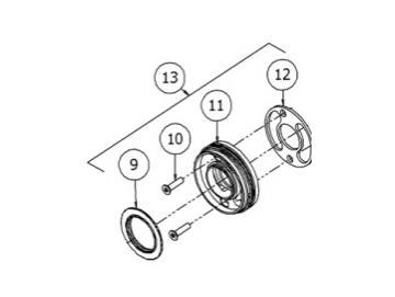 Schrauben (3 Stück) für DV1