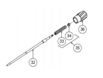 Materialeinstellrad für DV1