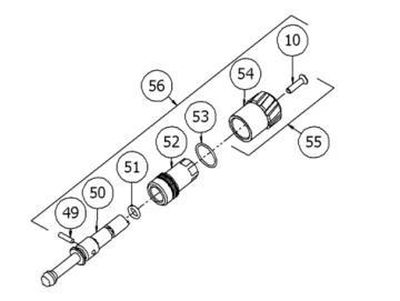 Kit für Strahlregulierknopf für DV1 (ohne Digitalmanometer)