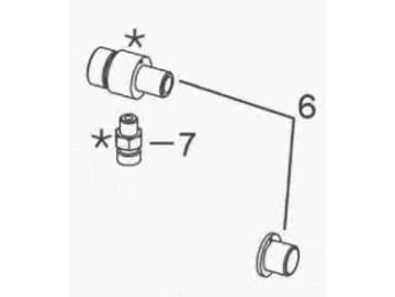 Doppel-Nippel 1/8NPT-1/4NPS, Edelstahl für A75