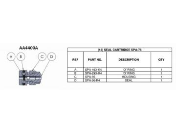 Seal (4 pieces) for AA4400A-needle pack