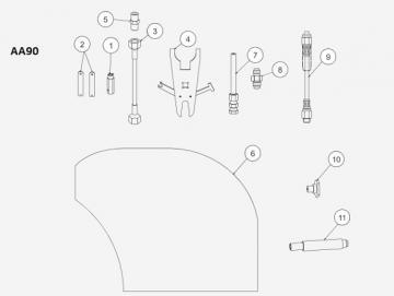 Dichtungs-Set (3Stück) Karbid Düse für AA90