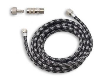braided nylon air hose with QD