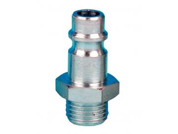 "Plug nipple, QD air line connection with 1/4 ""BSP (M)"