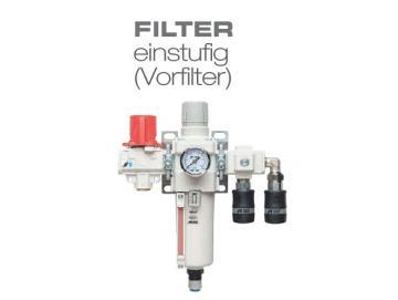 """FILTER SINGLE STAGE - pre-filter (G 1/2 """"IG)"""