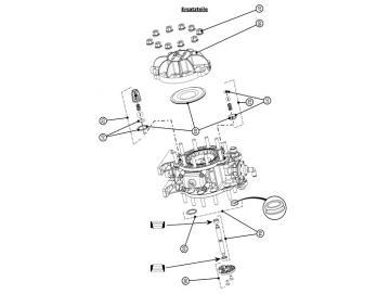 Kappen und Schrauben für DX70